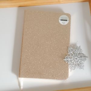 Gold Glitter Blank Journal Planner
